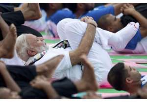 The sequel of International Yoga Day is being celebrated- India Tv