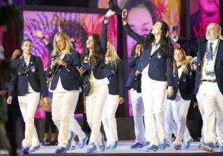 Greece athletes made their way in the opening in one of the most elegant fashion they could have.