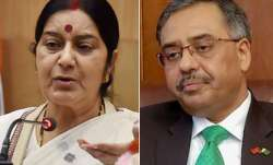 Pak envoy meets with Sushma Swaraj, no discussion on
