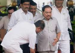 Eknath Khadse arrives to attend monsoon session of