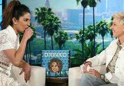 Priyanka gulps down tequila shot at Ellen DeGeneres Show