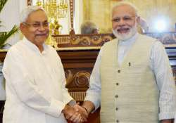 Nitish Kumar calls on the Prime Minister Narendra Modi in- India Tv
