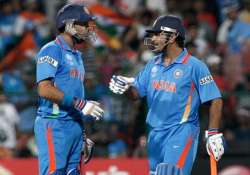 Yuvraj Singh and MS Dhoni during a match`- India Tv