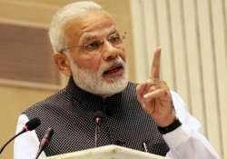 File photo. PM Narendra Modi is addressing a gathering of