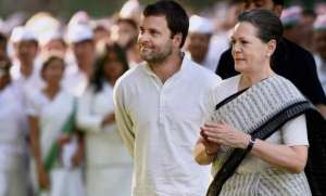 Congress president-elect Rahul Gandhi with mother Sonia.