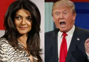 Sushmita Sen slammed Donald Trump- India Tv