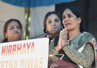 Nirbhaya's mother Asha Devi at a programme to...