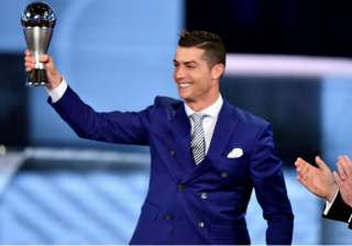 Cristiano Ronaldo wins FIFA's player of the year...