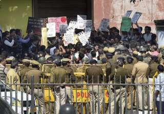 Ramjas College, Students, Protest, ABVP - India TV
