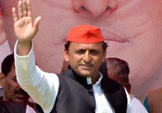 Akhilesh Yadav addressing an election rally in UP...