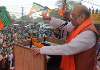 BJP President Amit Shah addressing during an...