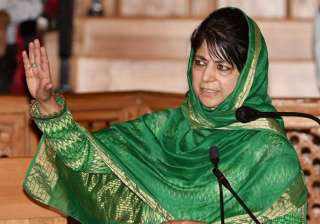 File pic of Jammu and Kashmir CM Mehbooba Mufti ...