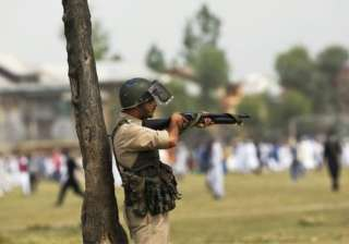 Pellet guns made a comeback in Kashmir Valley as...