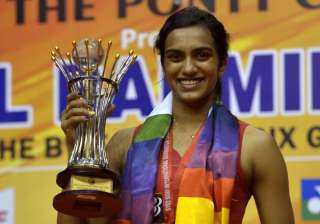 File pic - Sindhu won the Women's Single title of...