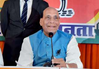 Home Minister Rajnath Singh addresses a press...