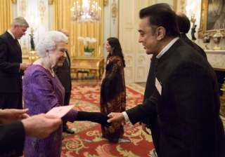 Kamal Hassan and Queen Elizabeth - India TV