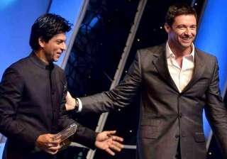 Hugh Jackman and Shah Rukh Khan