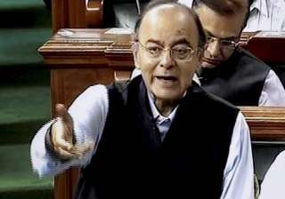 Arun Jaitley speaks in the Lok Sabha in New Delhi...