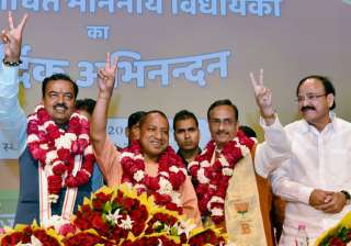 BJP MLAs' elected Yogi Adityanath as UP CM in a...