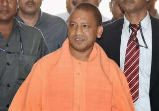 CM Adityanath arrives for a meeting with police...