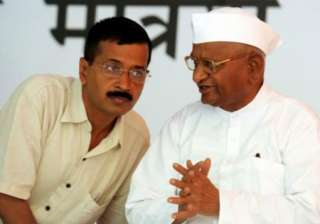 File pic. Anna Hazare with Arvind Kejriwal at the...