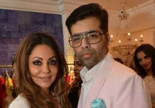 Karan thanks Gauri for designing his kids Yash...