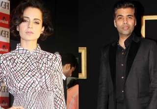 Kangana Ranaut and Karan Johar - India TV