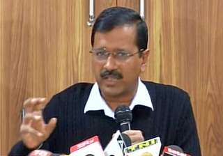 Arvind Kejriwal addressing media in New Delhi on...