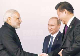 Chinese President Xi with PM Modi and President...