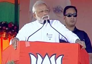 PM Narendra Modi addresses rally in Jaunpur -...