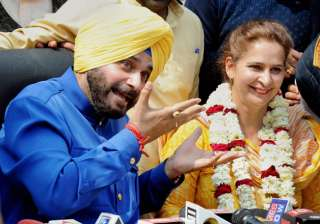 Navjot Singh Sidhu with his wife Navjot Kaur...