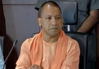 Yogi Adityanath at a press conference in Lucknow ...