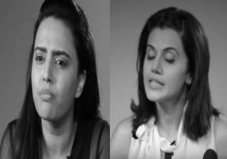 Taapsee Pannu and Swara Bhaskar video - India TV