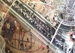 Escalator of Hong Kong shopping centre changes...