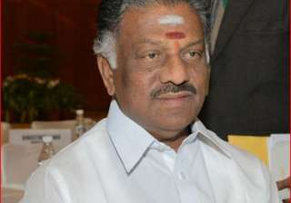 O Pannerselvam - India TV