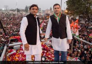 Akhilesh-Rahul hold joint road show in PM Modi's...