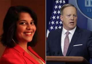 Sree Chauhan and Sean Spicer - India TV