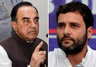 Subramanian Swamy and Rahul Gandhi - India TV