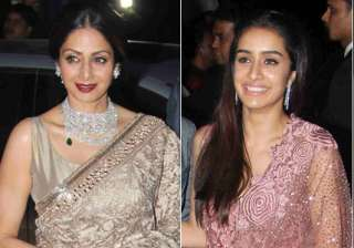 Sridevi and Shraddha Kapoor