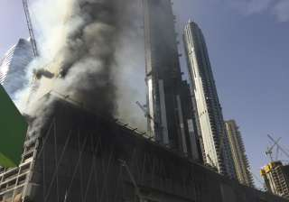 Fire at an under-construction tower in Dubai -...