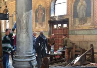 Explosion in Egypt church during Palm Sunday...