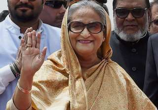 Bangladesh PM Sheikh Hasina arrives at IGI...