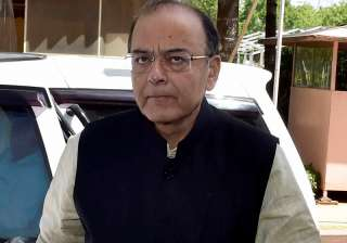 File pic of FM Arun Jaitley outside Parliament -...