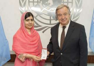 Malala with UN Secretary General - India TV