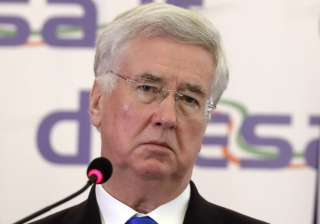 British Defence Secy Michael Fallon will arrive...