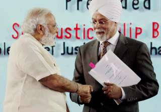 Modi assured CJI Khehar of govt's help in...