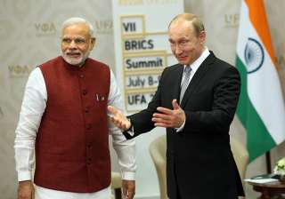 File pic of PM Modi and Russian President Putin...