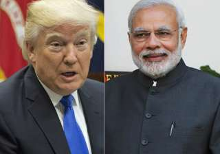 File pic - US President Donald Trump and PM...