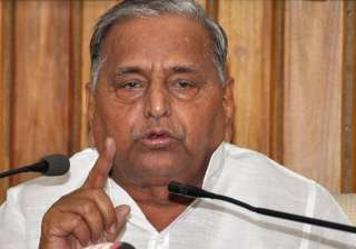 File pic of SP leader Mulayam Singh Yadav -...