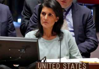File pic of American Ambassador to UN Nikki Haley...